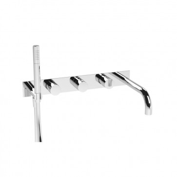Isenberg 100.2691 Series 100 Wall Mount Tub Filler With Hand Shower