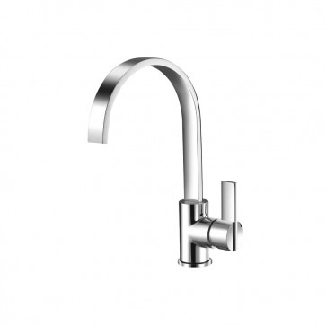 Isenberg 145.1500CP Series 145 Single Hole Bathroom Faucet With Swivel Spout