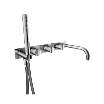 Isenberg 145.2691CP Series 145 Wall Mount Tub Filler With Hand Shower