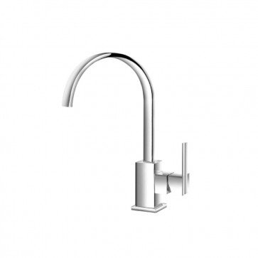 Isenberg 150.1500CP Series 150 Single Hole Bathroom Faucet - With Swivel Spout