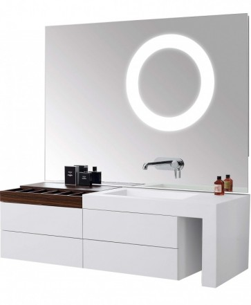 Montreux KL810582A Left Cabinet, Right, Cabinet, Corian Basin, Storage Box