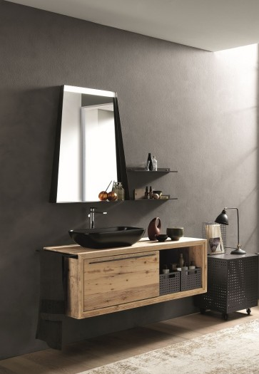 Archeda WOOD#2 Wood Drawer Vanity+Ceramic Sink