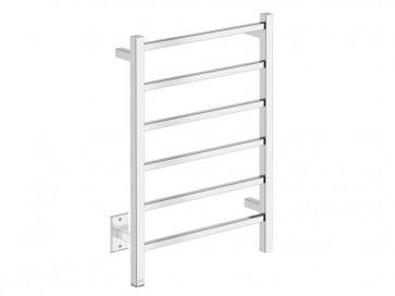 "Bathroom Butler CUB06121-PTS Cubic 6 Bar 21"" Straight Heated Towel Rail"