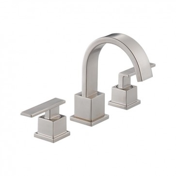 Delta 3553LF Vero Widespread Bathroom Faucet - Includes Metal Pop-Up Drain