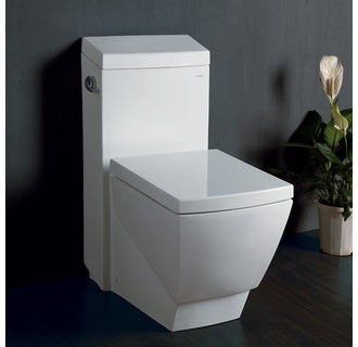 Eago TB336 One Piece Super Efficient Low-Flush Toilet - Includes Slow Closing Seat