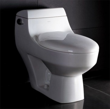Eago TB108 One-Piece Single Flush Toilet with Soft Close Seat