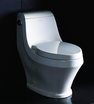Eago TB133 One-Piece Single Flush Toilet with Soft Close Seat