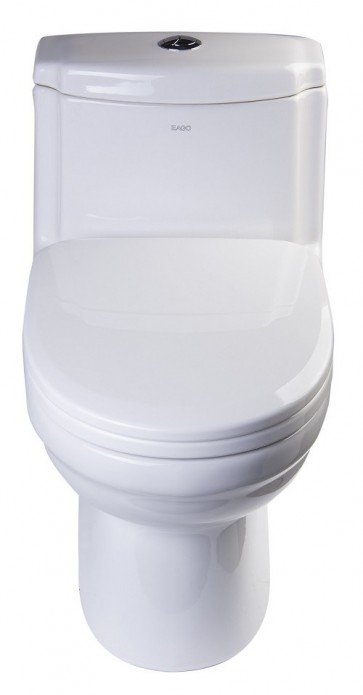 Eago TB222 One-Piece Dual Flush Toilet with Soft Close Seat
