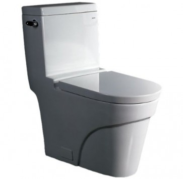 Eago TB326 One-Piece Single Flush Toilet with Soft Close Seat
