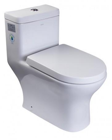 Eago TB353 One-Piece Dual Flush Toilet with Soft Close Seat