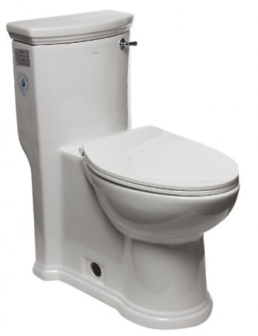Eago TB364 One-Piece Single Flush Toilet with Soft Close Seat