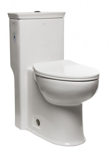 Eago TB377 One-Piece Single Flush Toilet with Soft Close Seat