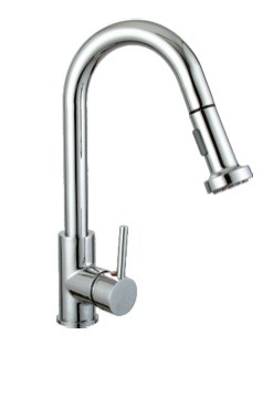 Kitchen F80026 Pull-Down Modern Single Handle Faucet