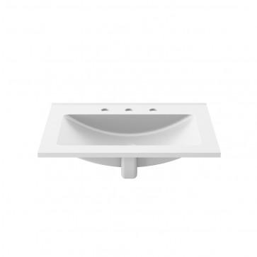 Kalia FU1456-240 Kalm Bathroom Sink For Widespread Faucet