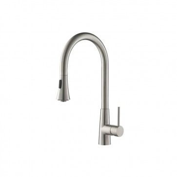 Isenberg K.1290 Kitchen Dual Spray Stainless Steel Kitchen Faucet With Pull Out