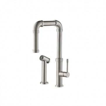Isenberg K.1500SS Kitchen Stainless Steel Kitchen Faucet With Side Sprayer