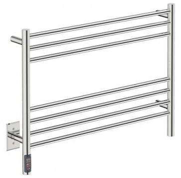 "Bathroom Butler NAT07141-TDC Natural 7 Bar 32"" Straight Heated Towel Rail"