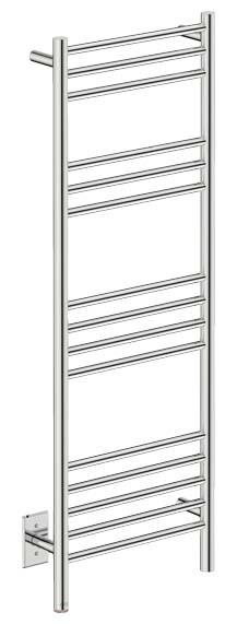 "Bathroom Butler NAT15111-PTS Natural 15 Bar 17"" Straight Heated Towel Rail"