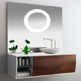 Montreux KL910576B Mirror with LED Light