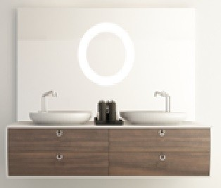 Montreux KL910576D Mirror with LED Light