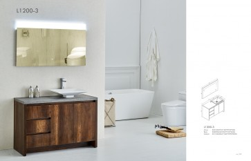 Piatti L1200-3 Modern Bathroom Single Vanity