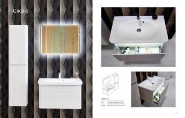 Piatti O800 Modern Bathroom Single Vanity