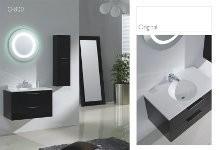 Piatti 0800 Modern Design Bathroom Vanity Single Polymarble Sink