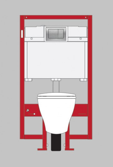 Toto-CWT418MFG-2#01 Aquia Wall-Hung Toilet & In-Wall Tank System - 1.6 GPF / 0.9 GPF