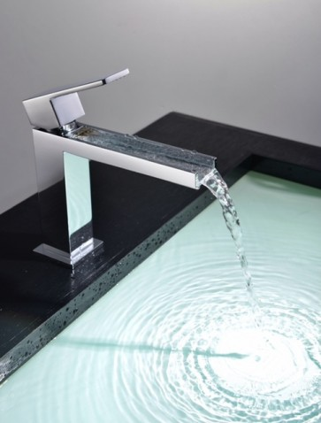 Piatti Waterfall Faucets Cascade + Pop Up Drain Include