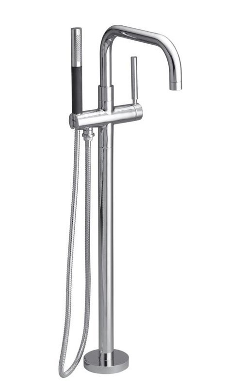 Kohler Tub Faucet With Hand Shower.Kohler K 10129 4 Purist Floor Mounted Roman Tub Faucet Trim With Metal Lever Handle And Built In Diverter Includes Personal Hand Shower