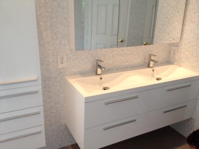 Piatti R1440 Modern Design Bathroom Vanity Double Acrylic Sink