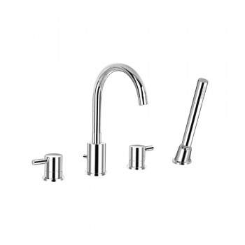 Isenberg 100.2400 Series 100 4 Hole Deck Mounted Roman Tub Faucet With Hand Shower