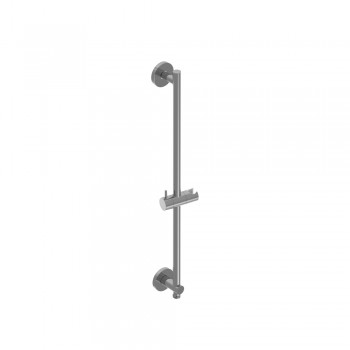Isenberg 100.601023 Universal Fixtures Round Shower Slide Bar With Integrated Wall Elbow