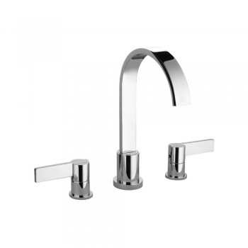 "Isenberg 145.2000CP Series 145 Three Hole 8"" Widespread Two Handle Bathroom Faucet"