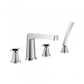 Isenberg 240.2400 Series 240 4 Hole Deck Mounted Roman Tub Faucet With Hand Shower