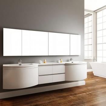 """Alya AT-8110-iG 96"""" Double Modern Wall Mount Bathroom Vanity"""
