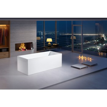 67'' Acrylic Freestanding Bathtub in White by Piatti B-15001