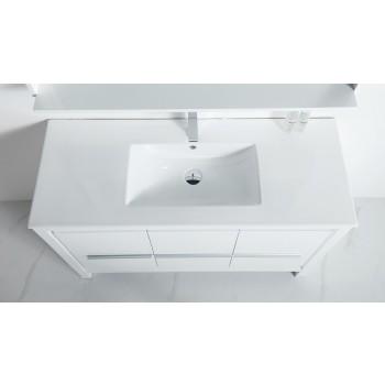 BNK BSU6022WH Venice White Stone Bathroom Vanity Top