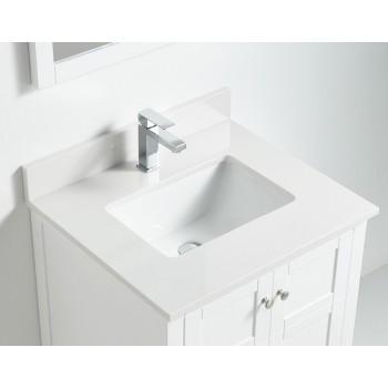 BNK BSU2422WH Austin White Stone Bathroom Vanity Top