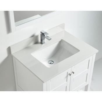 BNK BSU3022WH Austin White Stone Bathroom Vanity Top