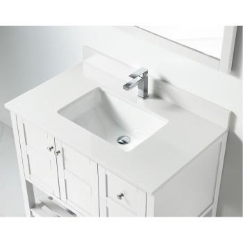 BNK BSU4222WH Austin White Stone Bathroom Vanity Top