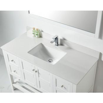 BNK BSU4822WH Austin White Stone Bathroom Vanity Top