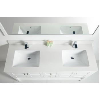 BNK BSU6022DW Austin White Stone Bathroom Vanity Top