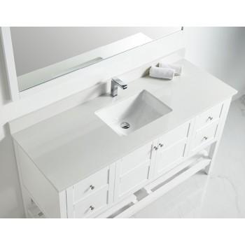 BNK BSU6022SWH Austin White Stone Bathroom Vanity Top