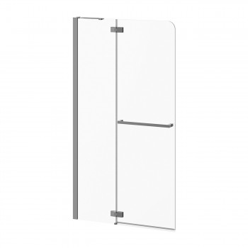 Kalia DR1684-110 Pratika Pivot Shower Shield With Fixed Panel 42 X 77