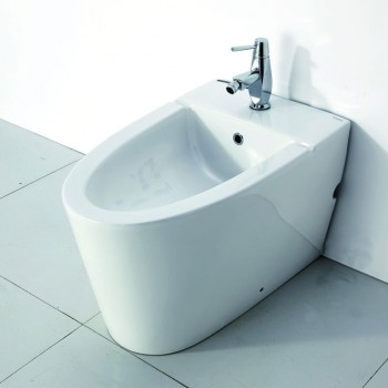 EAGO JA3400 Modern White Ceramic Bathroom Bidet