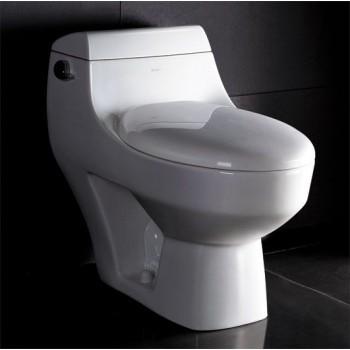 Eago TB108 One-Piece Single Flush Toilet with Soft Close Seat