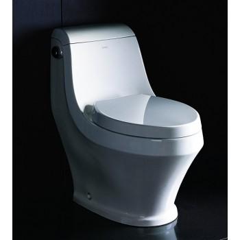 Eago TB133 One-Piece Single Flush Toilet with Soft Close Seat