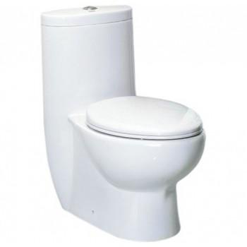 Eago TB309 One-Piece Dual Flush Toilet with Soft Close Seat