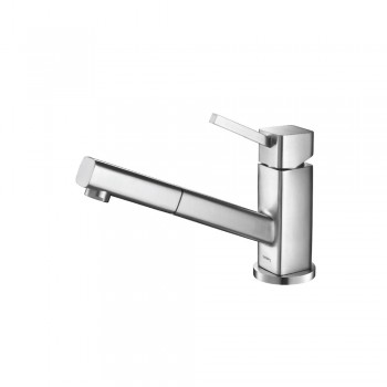Isenberg K.1000SS Kitchen Smallie - Stainless Steel Kitchen Faucet With Pull Out